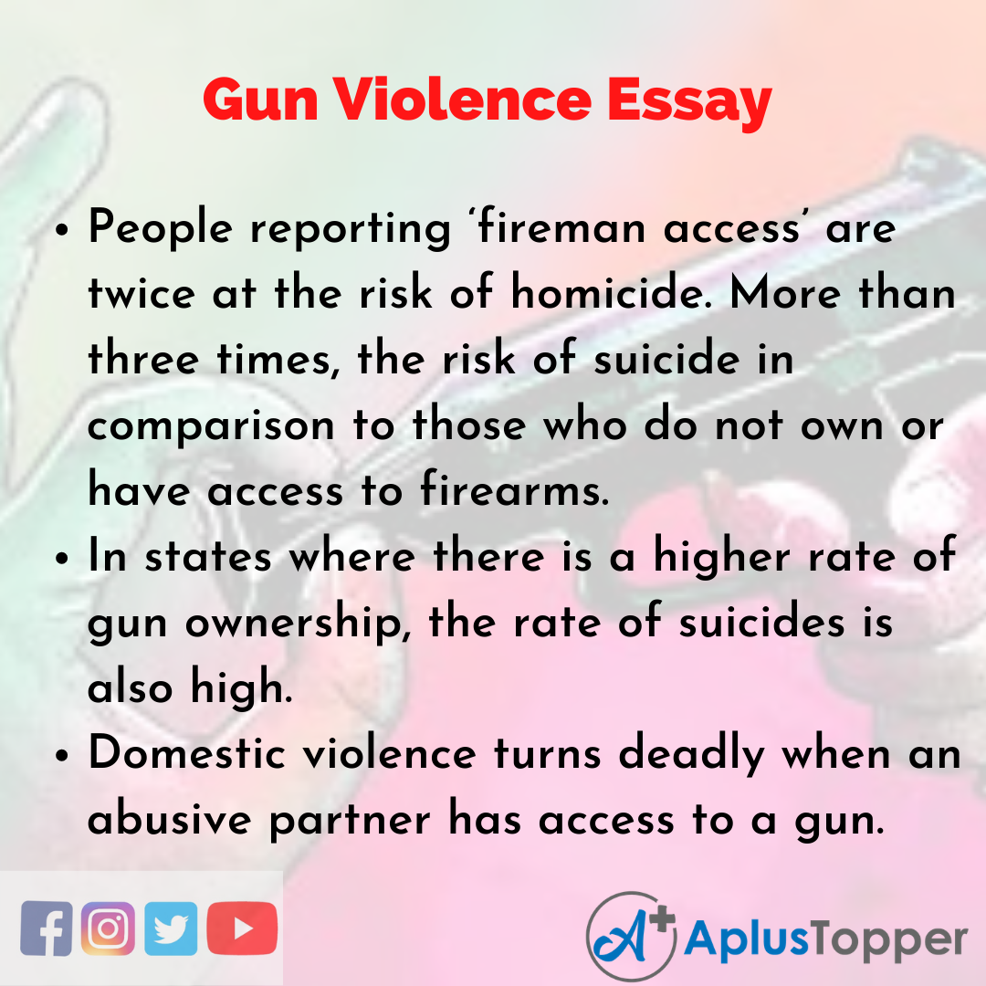 Essay on Gun Violence