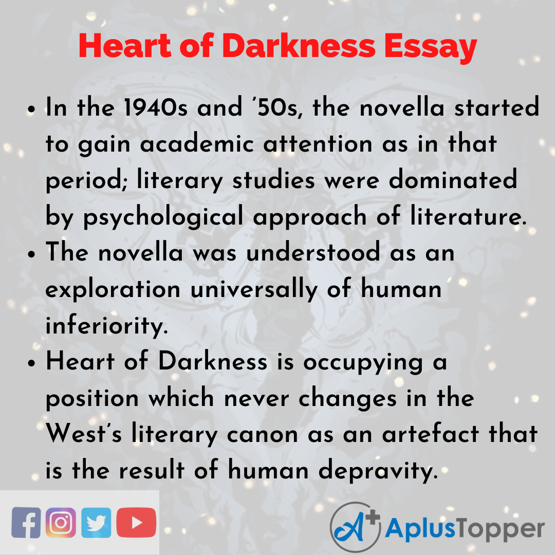 Essay on Heart of Darkness