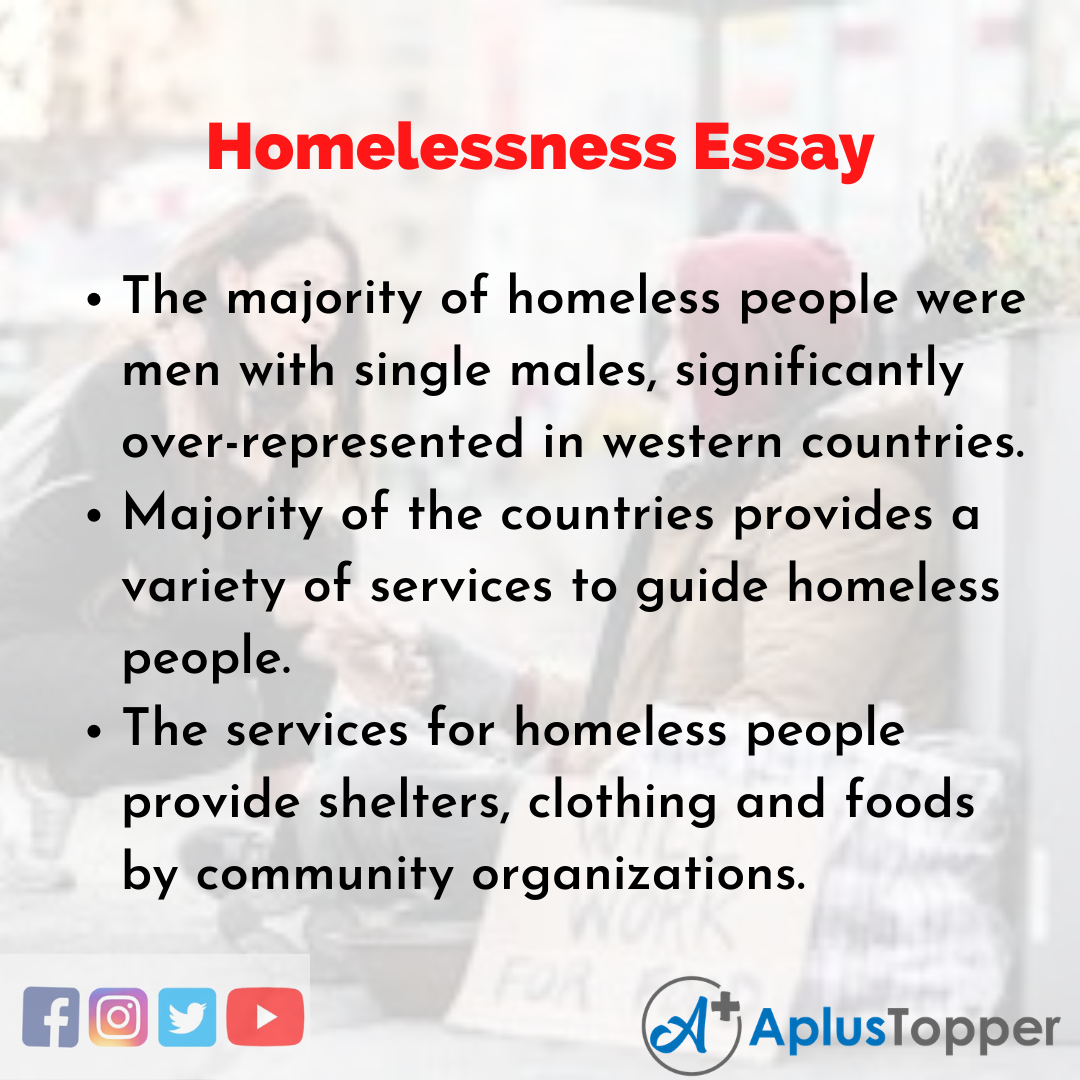 Essay on Homelessness