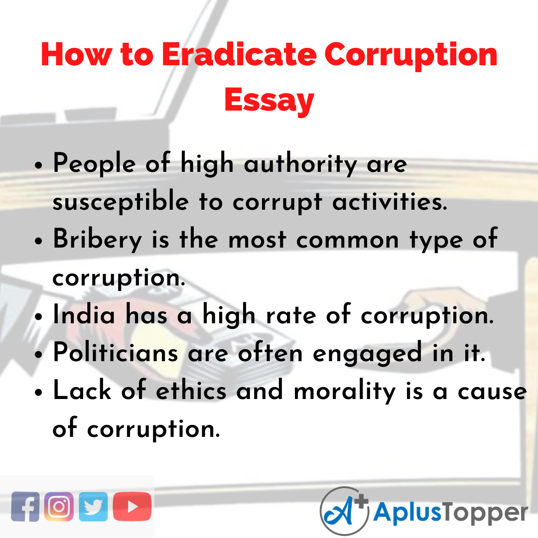 Essay on How to Eradicate Corruption