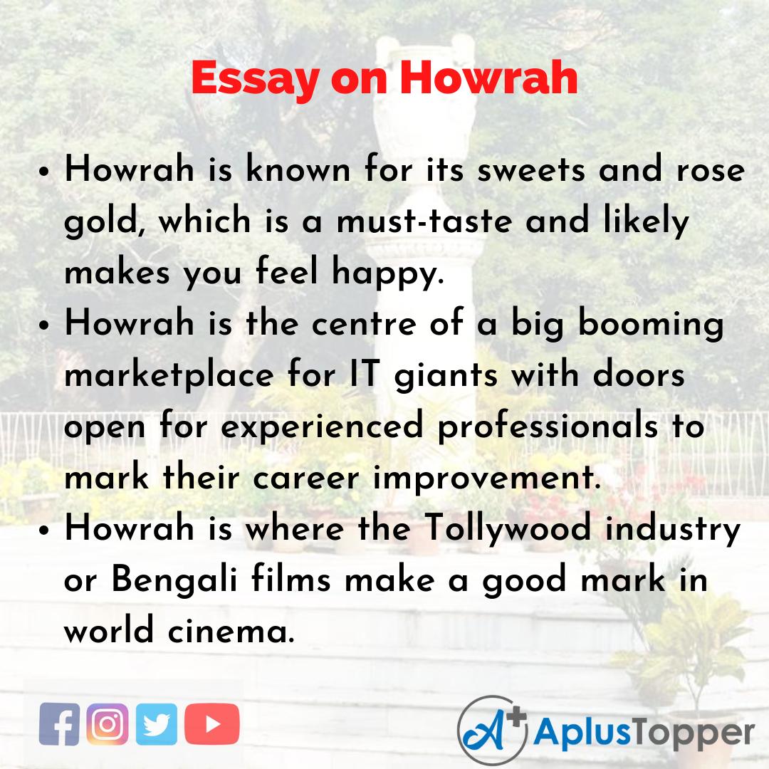 Essay on Howrah