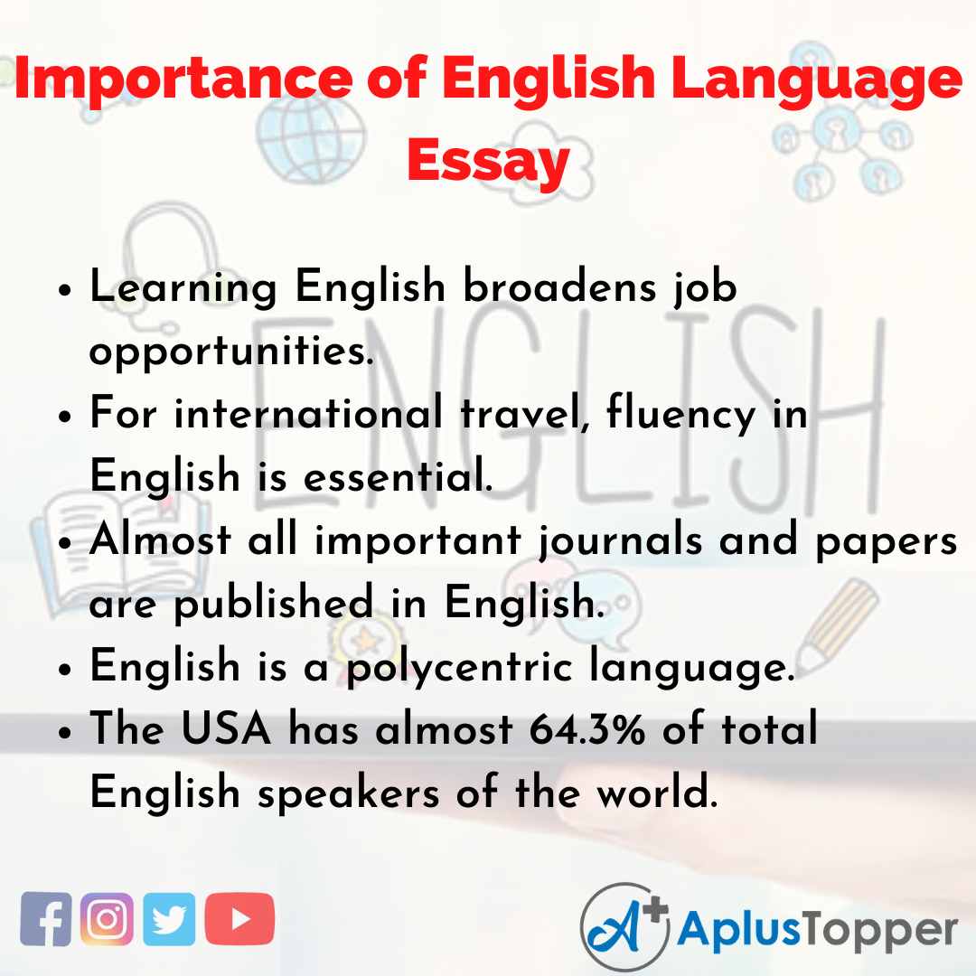 Essay on Importance of English Language