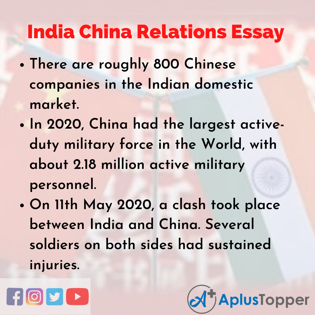 Essay on India China Relations