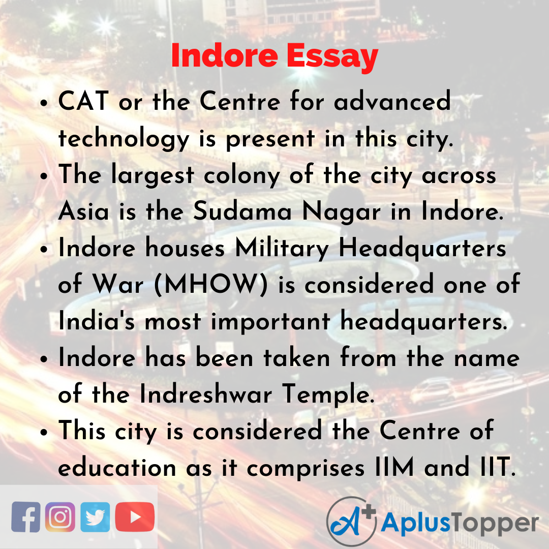Essay on Indore