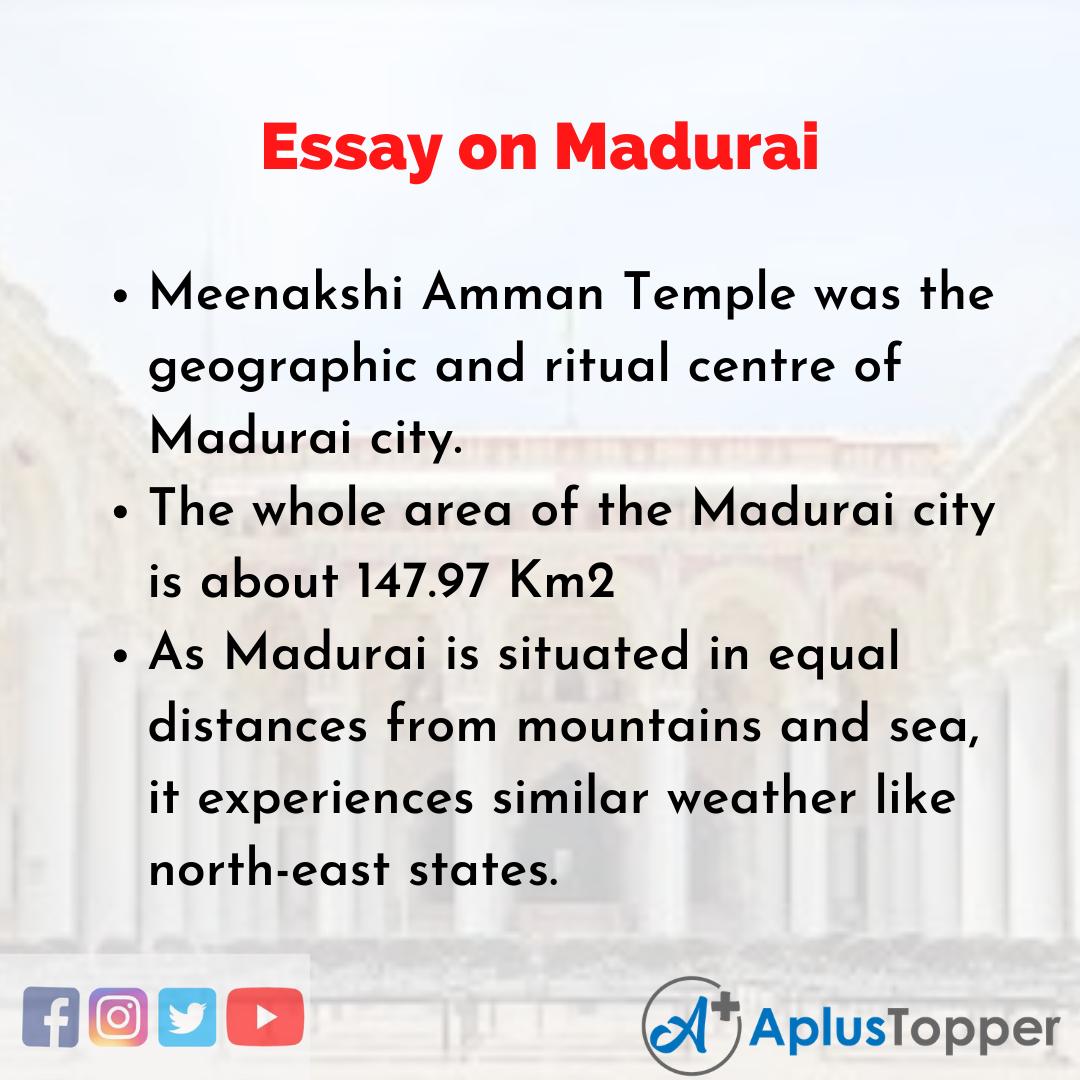 Essay on Madurai