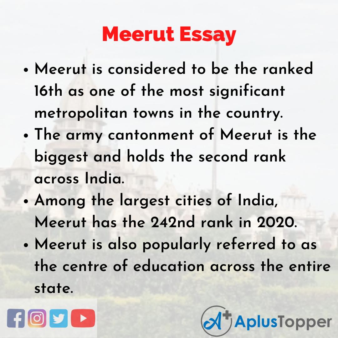 Essay on Meerut
