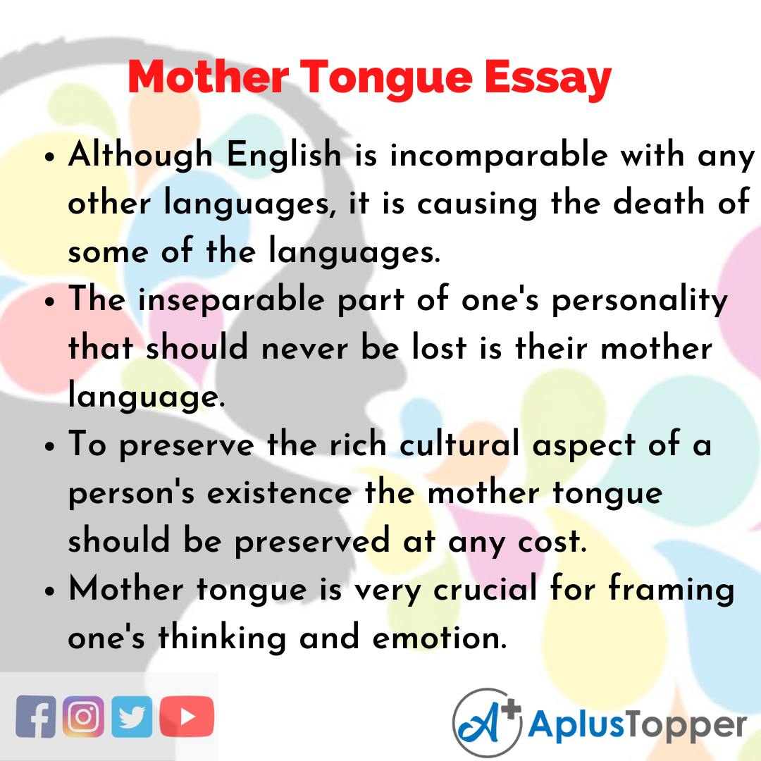 Essay on Mother Tongue