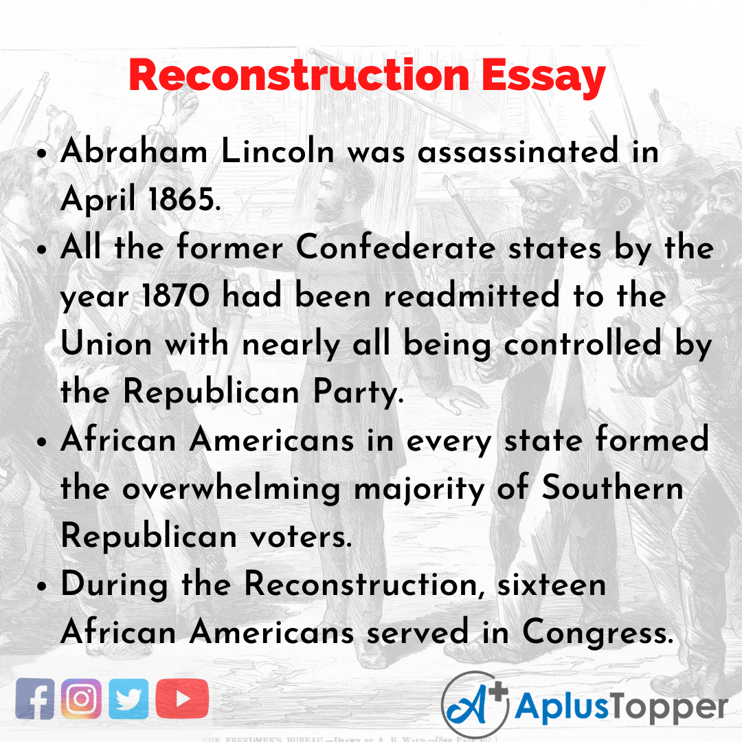 Essay on Reconstruction
