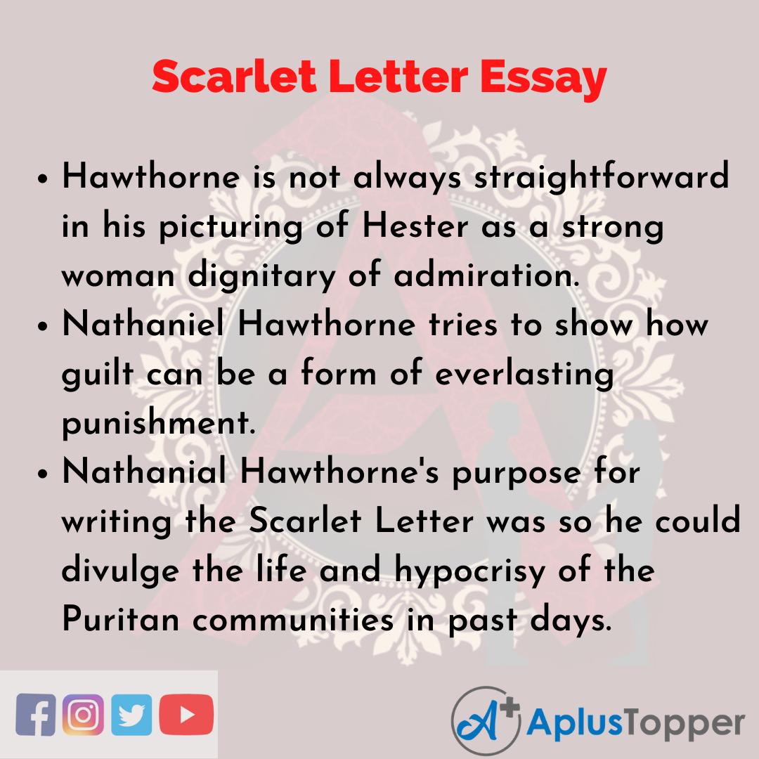 Essay on Scarlet Letter