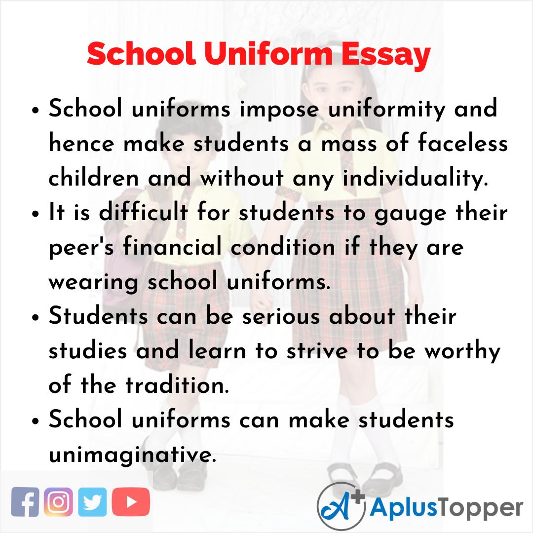 Essay on School Uniform