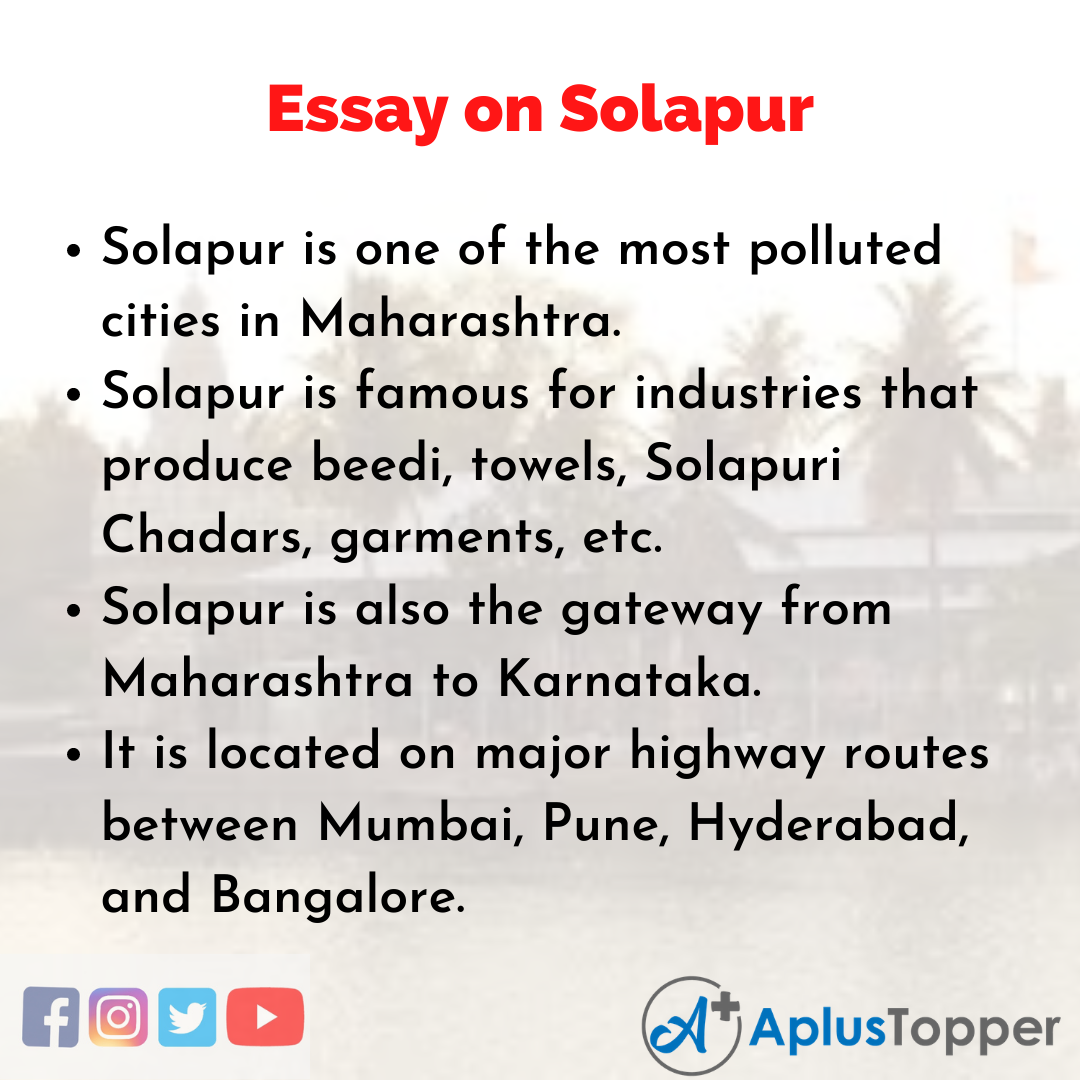 Essay on Solapur