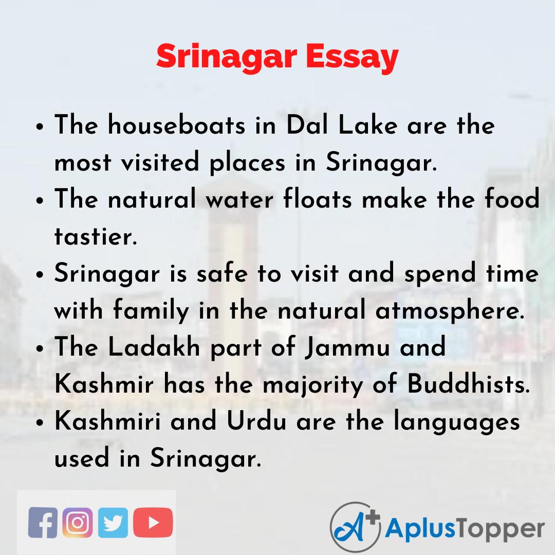 Essay on Srinagar