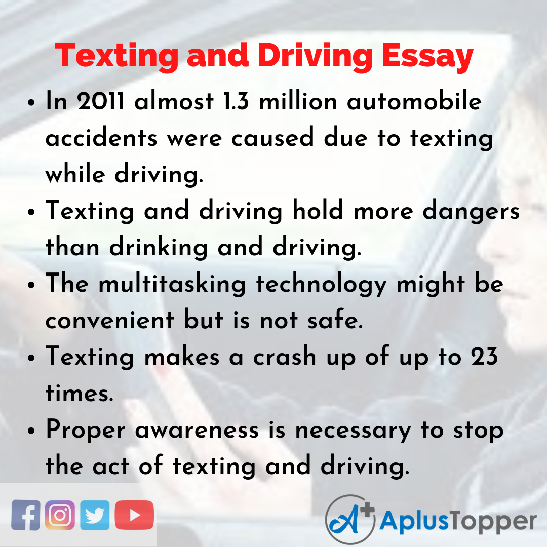 Essay on Texting and Driving