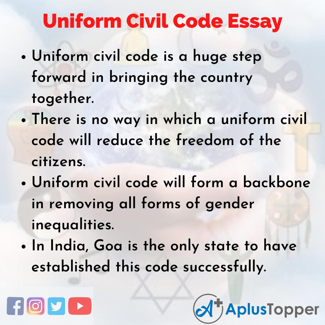 Essay on Uniform Civil Code