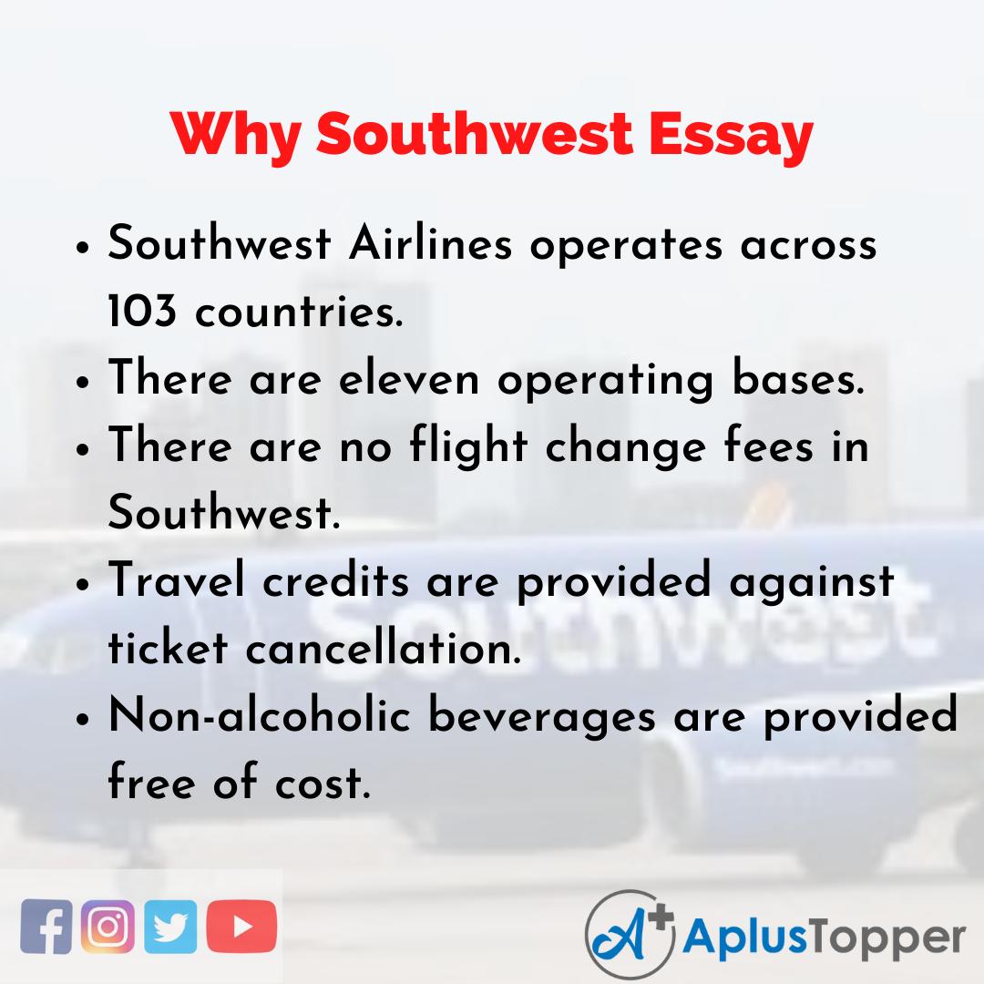 Essay on Why Southwest