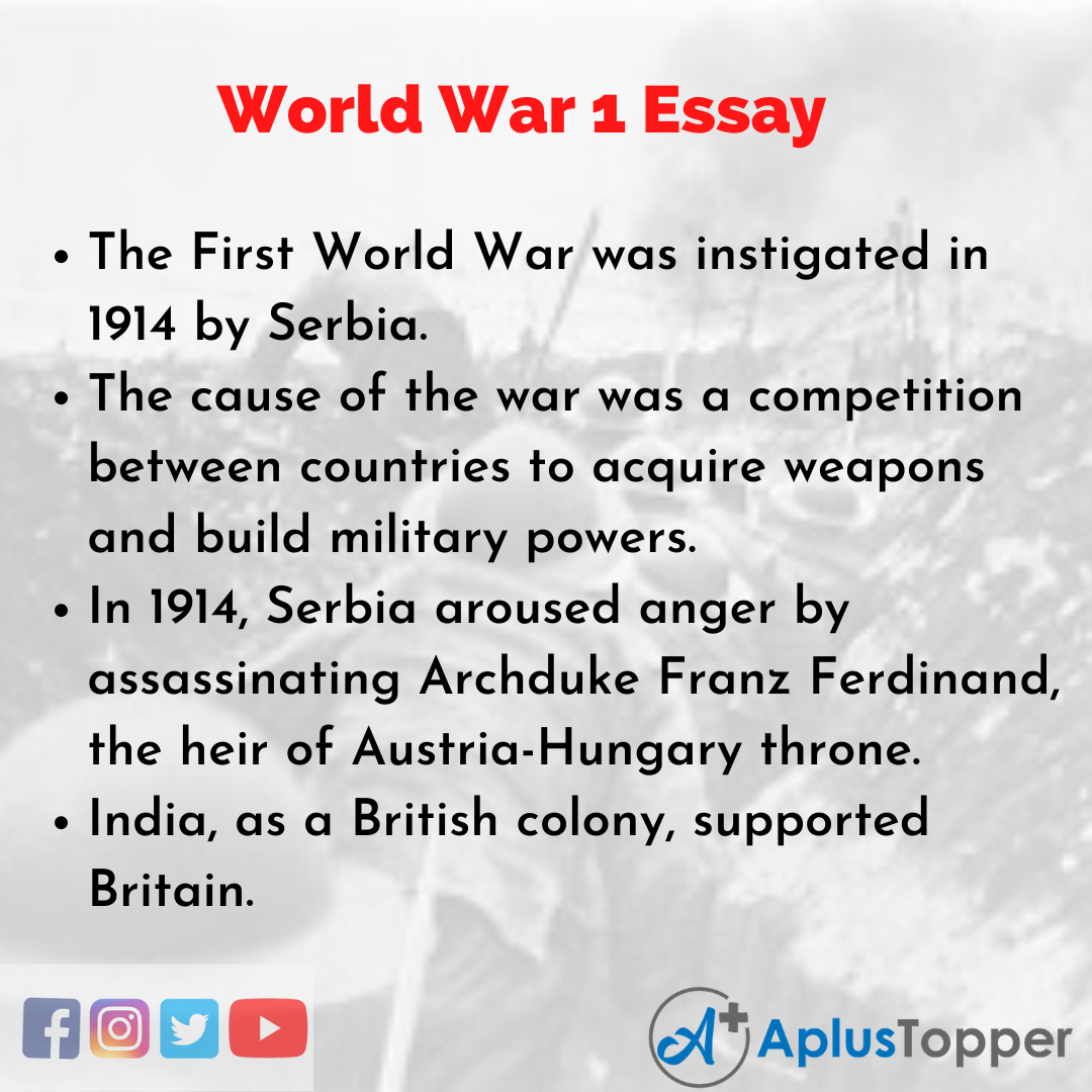 Essay on World War 1
