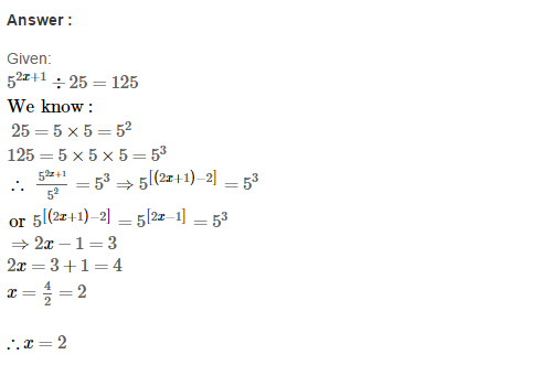 Exponents RS Aggarwal Class 8 Maths Solutions Exercise 2A 13.1