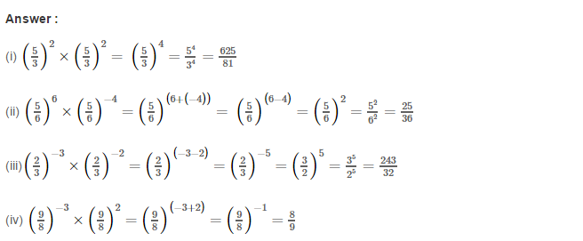 Exponents RS Aggarwal Class 8 Maths Solutions Exercise 2A 2.1