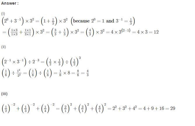 Exponents RS Aggarwal Class 8 Maths Solutions Exercise 2A 8.1