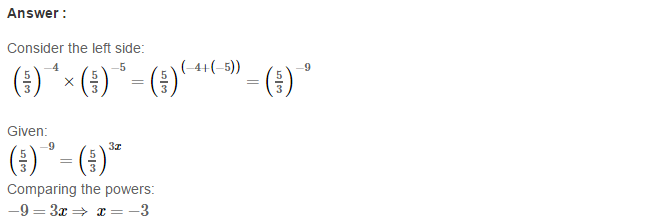 Exponents RS Aggarwal Class 8 Maths Solutions Exercise 2A 9.1
