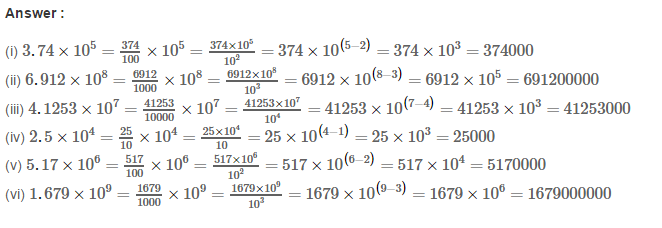 Exponents RS Aggarwal Class 8 Maths Solutions Exercise 2B 2.1