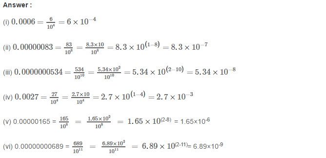 Exponents RS Aggarwal Class 8 Maths Solutions Exercise 2B 5.1