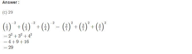 Exponents RS Aggarwal Class 8 Maths Solutions Exercise 2C 6.1