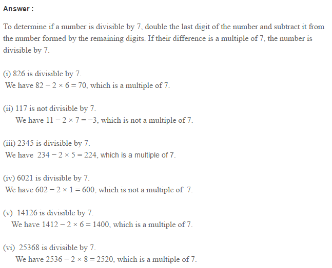 Factors and Multiples RS Aggarwal Class 6 Maths Solutions Ex 2B 6.1