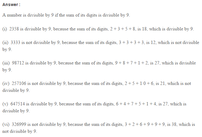 Factors and Multiples RS Aggarwal Class 6 Maths Solutions Ex 2B 8.1