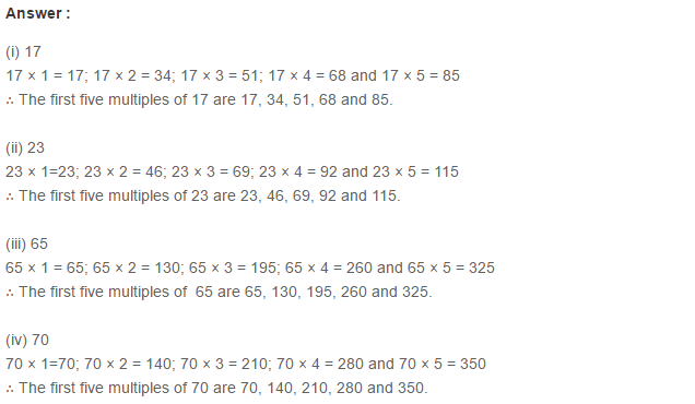 Factors and Multiples RS Aggarwal Class 6 Maths Solutions Exercise 2A 3.1