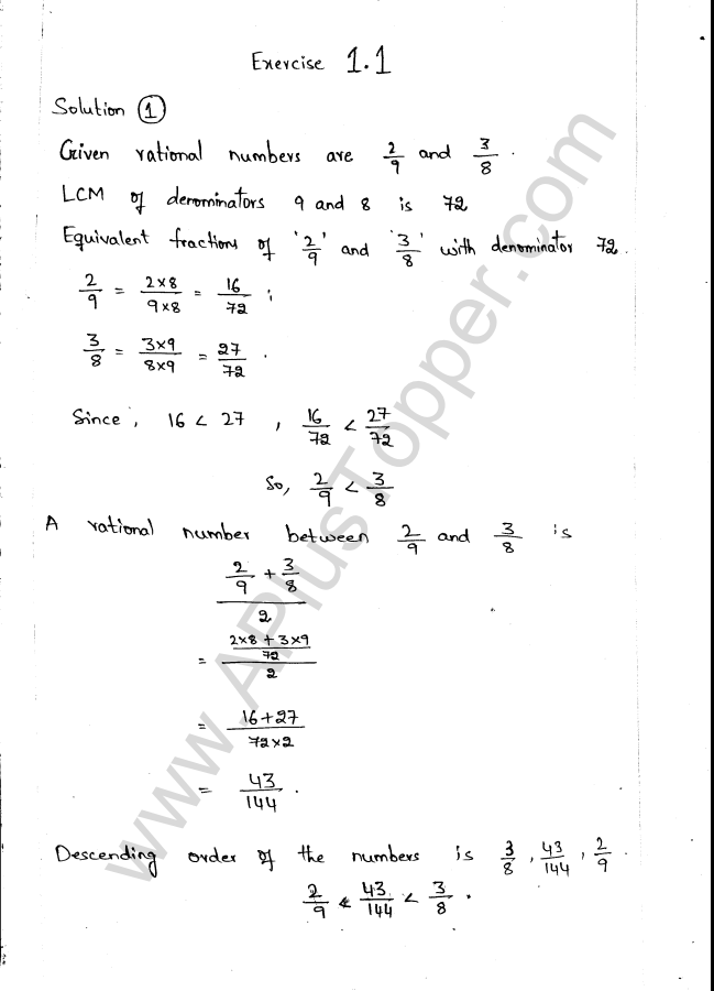 ML Aggarwal ICSE Solutions for Class 9 Maths Ch 1 Rational and Irrational Numbers - A Plus Topper