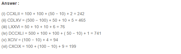 Number System RS Aggarwal Class 6 Maths Solutions CCE Test Paper 7.1