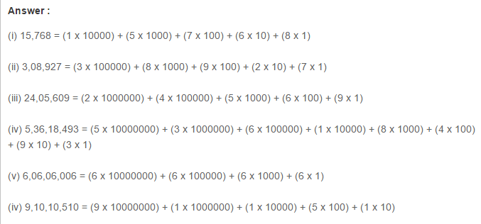 Number System RS Aggarwal Class 6 Maths Solutions Exercise 1A 3.1