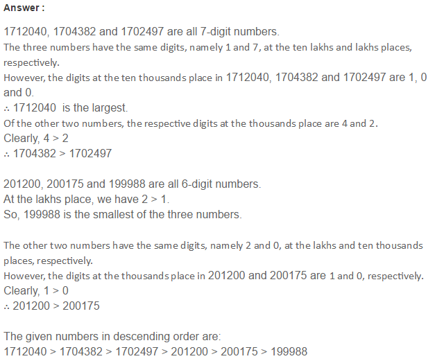Number System RS Aggarwal Class 6 Maths Solutions Exercise 1B 10.1