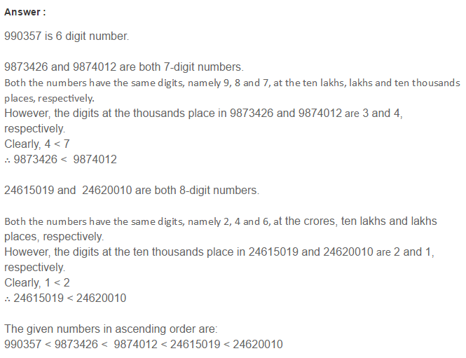 Number System RS Aggarwal Class 6 Maths Solutions Exercise 1B 11.1