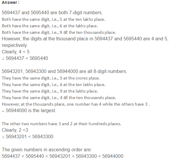 Number System RS Aggarwal Class 6 Maths Solutions Exercise 1B 12.1
