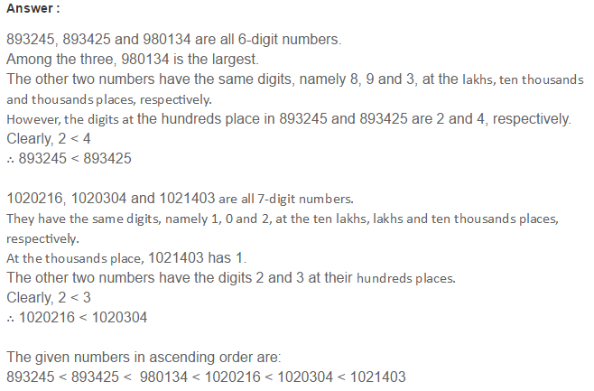 Number System RS Aggarwal Class 6 Maths Solutions Exercise 1B 14.1