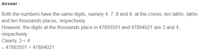 Number System RS Aggarwal Class 6 Maths Solutions Exercise 1B 6.1