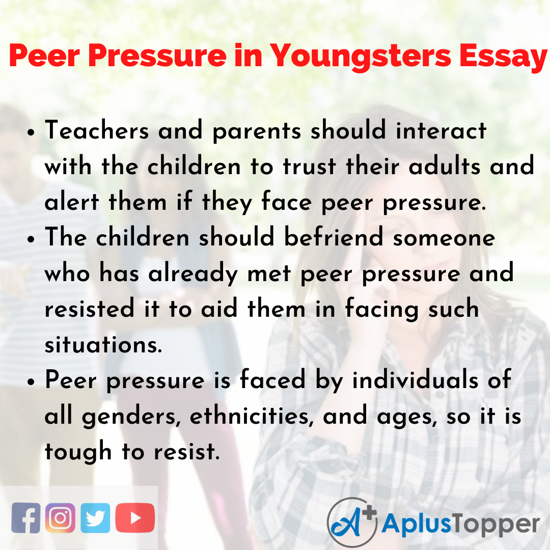 Peer Pressure in Youngsters
