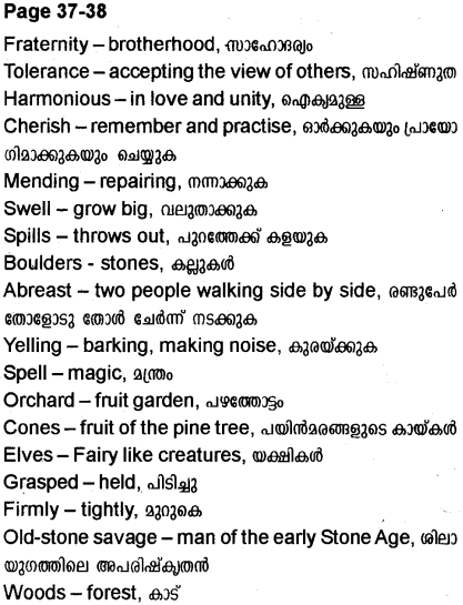 Plus Two English Textbook Answers Unit 2 Heights of Harmony 6