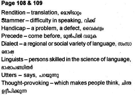 Plus Two English Textbook Answers Unit 3 Chapter 3 Stammer (Poem) 2