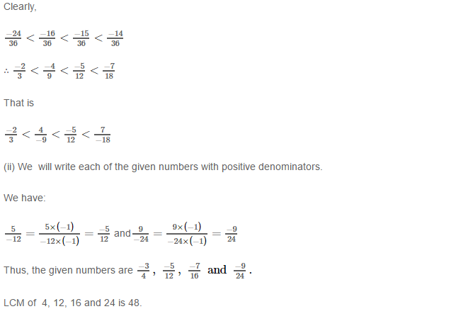 Rational Numbers RS Aggarwal Class 8 Solutions 10.2