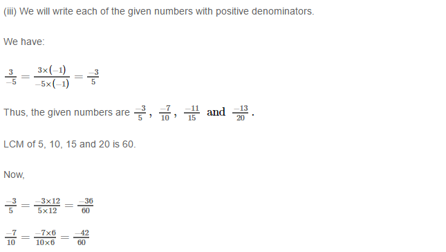 Rational Numbers RS Aggarwal Class 8 Solutions 10.4