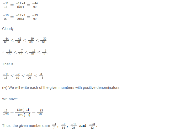 Rational Numbers RS Aggarwal Class 8 Solutions 10.5