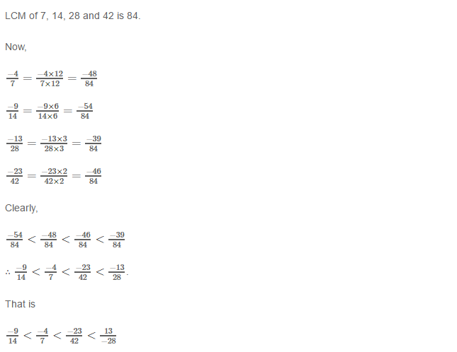 Rational Numbers RS Aggarwal Class 8 Solutions 10.6