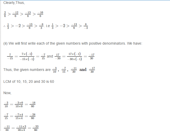 Rational Numbers RS Aggarwal Class 8 Solutions 11.2