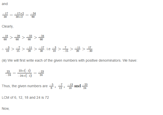Rational Numbers RS Aggarwal Class 8 Solutions 11.3