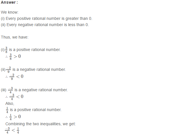 Rational Numbers RS Aggarwal Class 8 Solutions 7.1