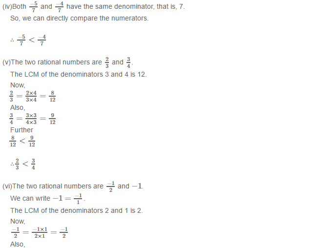 Rational Numbers RS Aggarwal Class 8 Solutions 7.2