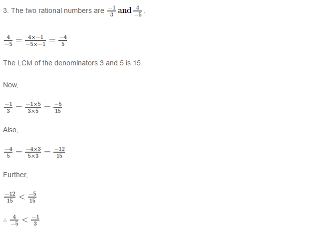 Rational Numbers RS Aggarwal Class 8 Solutions 8.3